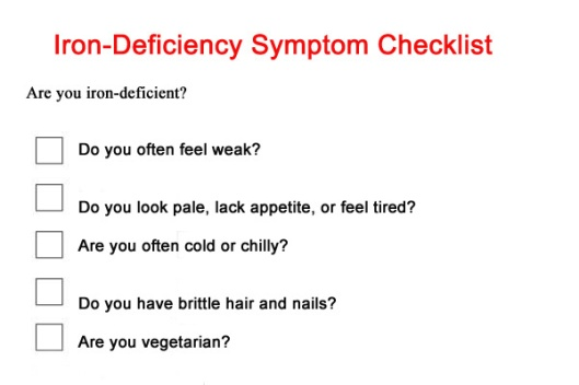 iron-deficiency-checklist 03.30.2015