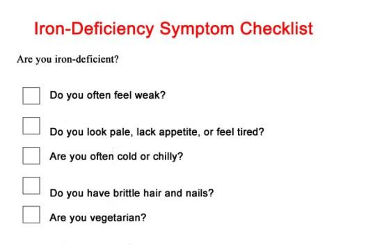 iron-deficiency-checklist 03.30.2015